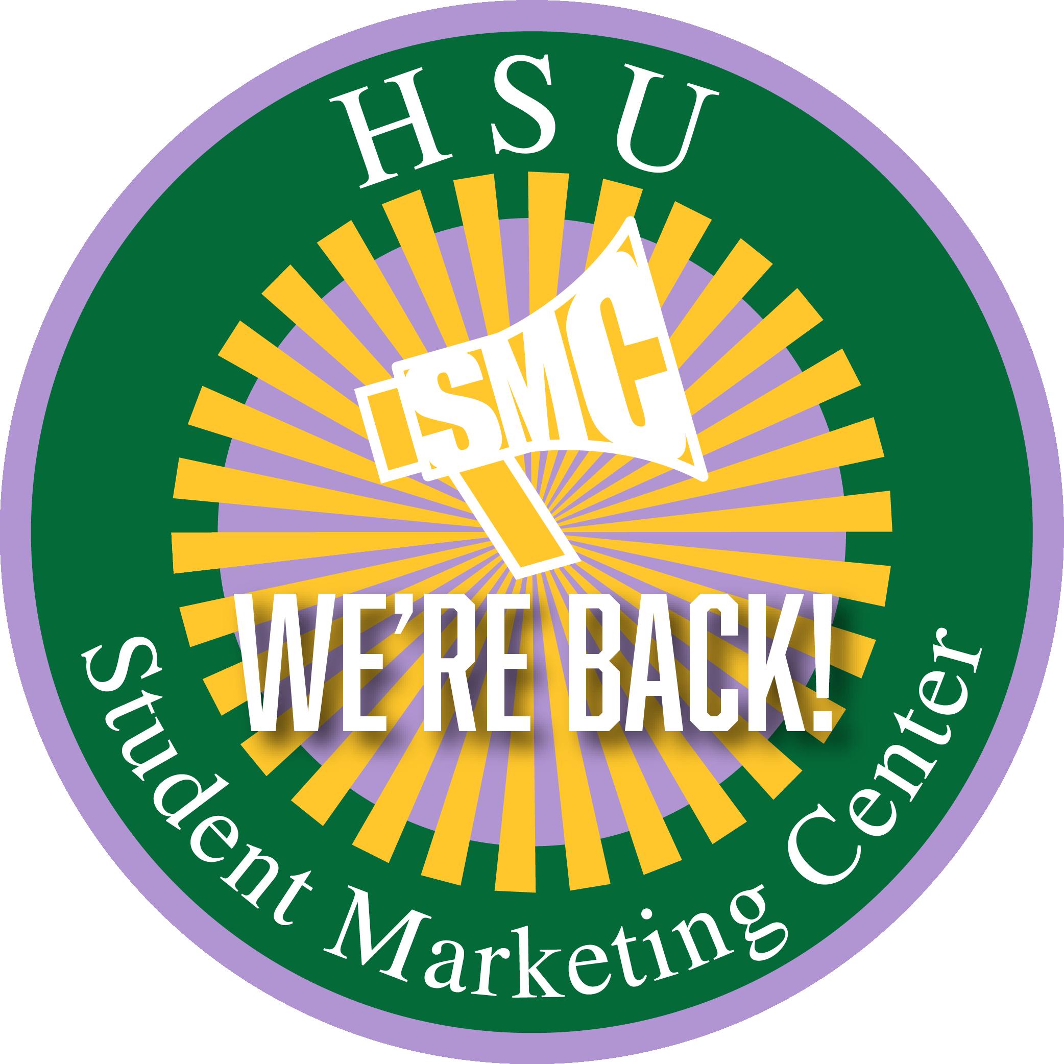 "SMC logo ""We're Back"""